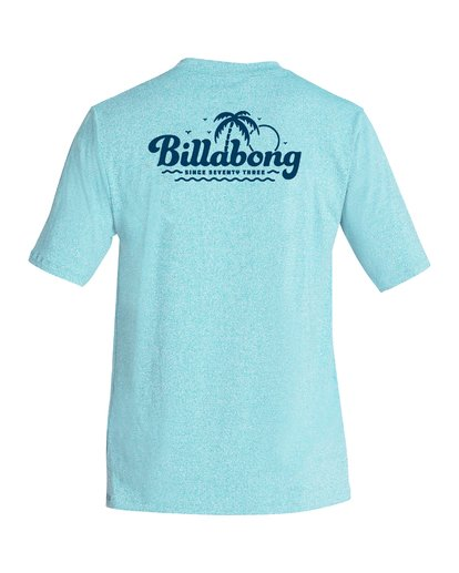 1 Beach Script Loose Fit Short Sleeve Rashiguard Blue MR06VBBE Billabong