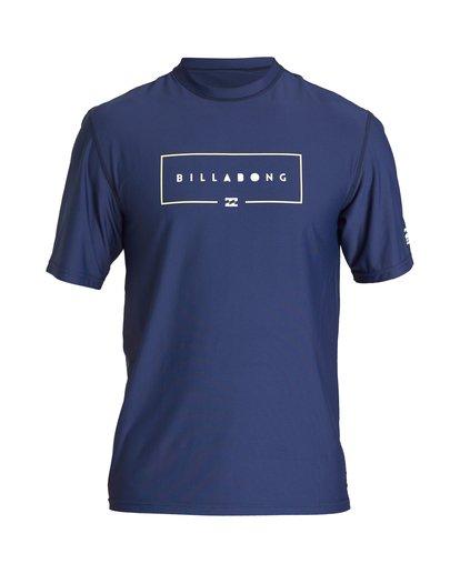 0 Union Loose Fit Short Sleeve Rashguard Blue MR06VBUN Billabong