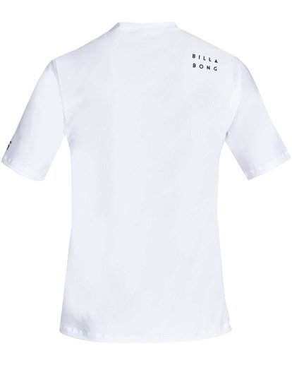 1 All Day Wave Loose Fit Short Sleeve Rashguard White MR07TBWL Billabong