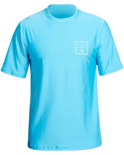 0 Stacked Loose Fit Short Sleeve Rashguard Blue MR09NBST Billabong
