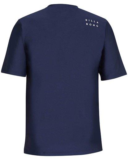 1 Stacked Loose Fit Short Sleeve Rashguard Blue MR09NBST Billabong
