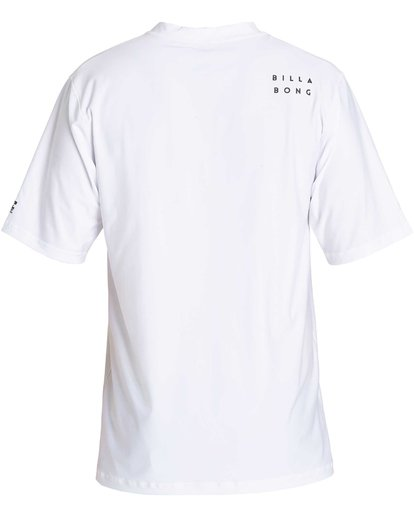 1 Stacked Loose Fit Short Sleeve Rashguard White MR09NBST Billabong