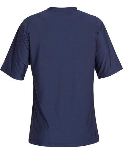 1 Team Stripe Loose Fit Short Sleeve Rashguard Blue MR11NBTS Billabong