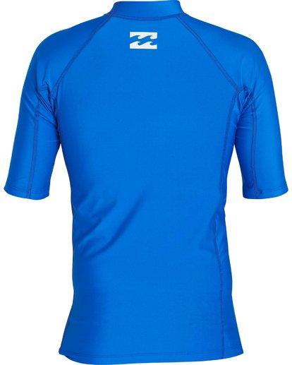 1 All Day United Performance Fit Short Sleeve Rashguard Blue MR12NBAU Billabong