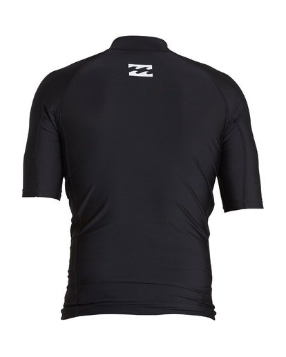 1 United Performance Fit Short Sleeve Rashguard Black MR12SBUE Billabong
