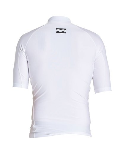 1 United Performance Fit Short Sleeve Rashguard White MR12SBUE Billabong