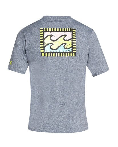 1 Nairobi Loose Fit Short Sleeve Rashguard Grey MR24TBNA Billabong