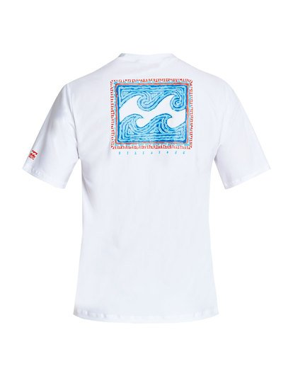 1 Nairobi Loose Fit Short Sleeve Rashguard White MR24TBNA Billabong