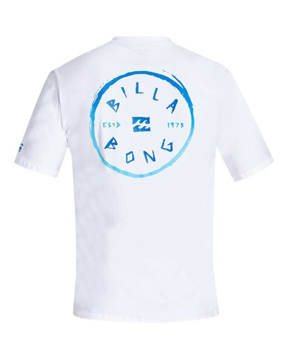 1 Rotohand Loose Fit Short Sleeve Rashguard White MR24TBRH Billabong