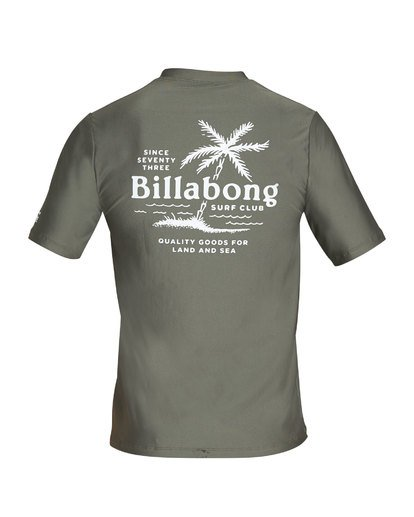 1 Surf Club Loose Fit Short Sleeve Rashguard Green MR24TBSU Billabong