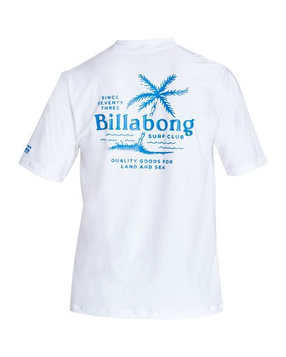 1 Surf Club Loose Fit Short Sleeve Rashguard White MR24TBSU Billabong