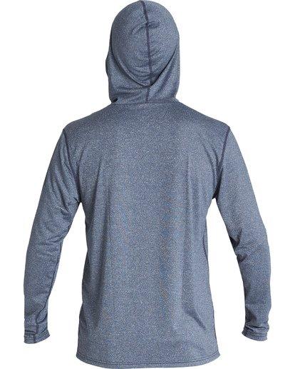 3 Social Club Hooded Loose Fit Long Sleeve Surf Shirt Blue MR521BSC Billabong