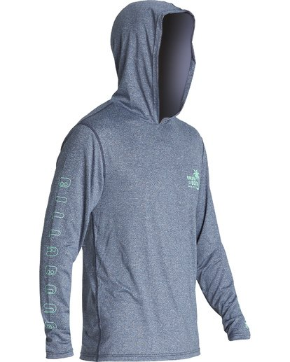 2 Social Club Hooded Loose Fit Long Sleeve Surf Shirt Blue MR521BSC Billabong