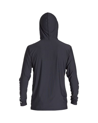 1 Unity Hooded Loose Fit Long Sleeve Rashguard Black MR52VBUH Billabong