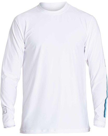 0 D Bah Loose Fit Long Sleeve Rashguard White MR54NBDB Billabong
