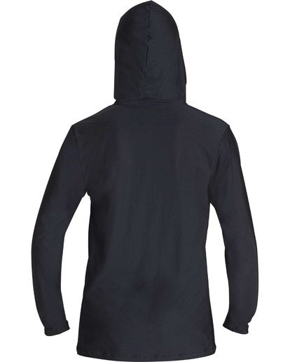 1 Unity Hooded Loose Fit Long Sleeve Rashguard Black MR55TBUH Billabong