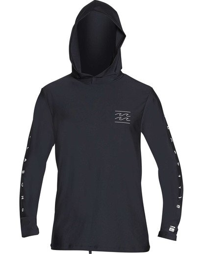 0 Unity Hooded Loose Fit Long Sleeve Hooded Rashguard Black MR55TBUH Billabong