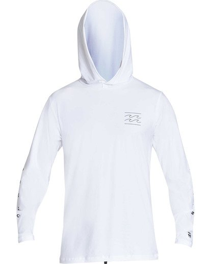 0 Unity Hooded Loose Fit Long Sleeve Hooded Rashguard White MR55TBUH Billabong