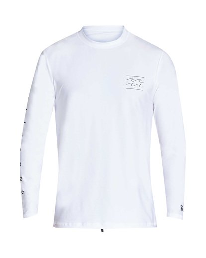 0 Unity Loose Fit Long Sleeve Rashguard White MR55TBUL Billabong