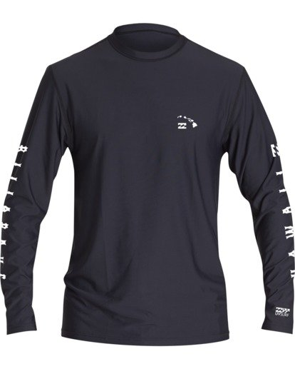 0 Break Loose Fit Long Sleeve Surf Shirt Black MR591BBR Billabong