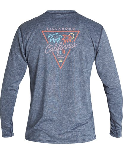 1 Cali Loose Fit Long Sleeve Surf Shirt Blue MR591BCA Billabong