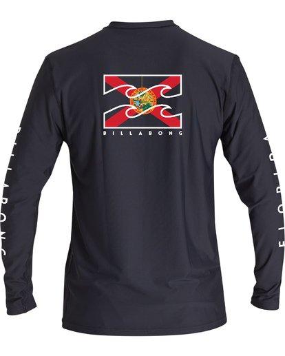 1 Native Florida Loose Fit Long Sleeve Surf Shirt Blue MR591BNF Billabong