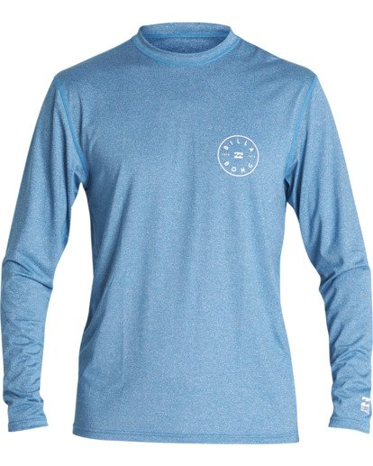 0 Rotor Loose Fit Long Sleeve Surf Shirt Blue MR591BRO Billabong