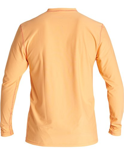 3 Unity Loose Fit Long Sleeve Surf Shirt Orange MR591BUT Billabong