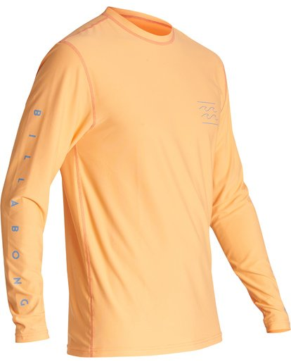 2 Unity Loose Fit Long Sleeve Surf Shirt Orange MR591BUT Billabong
