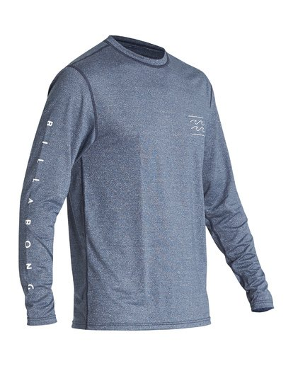 0 Unity Loose Fit Long Sleeve Surf Shirt Blue MR591BUT Billabong