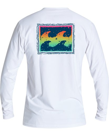 1 Warchild Loose Fit Long Sleeve Surf Shirt White MR591BWC Billabong