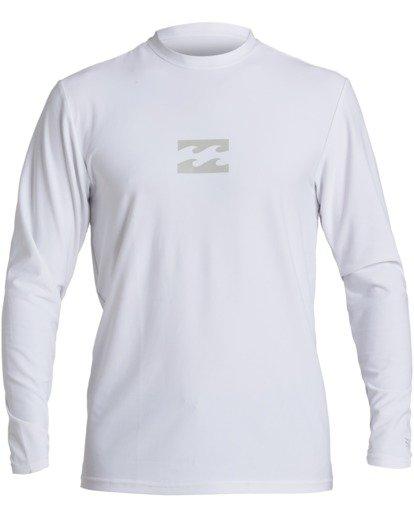 0 All Day Loose Fit Long Sleeve Rashguard White MR593BAD Billabong