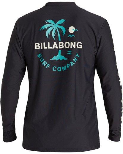 1 Vacation Loose Fit Long Sleeve Rashguard Black MR593BVA Billabong