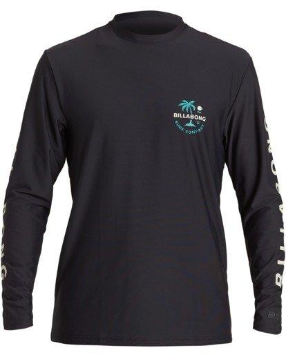 0 Vacation Loose Fit Long Sleeve Rashguard Black MR593BVA Billabong