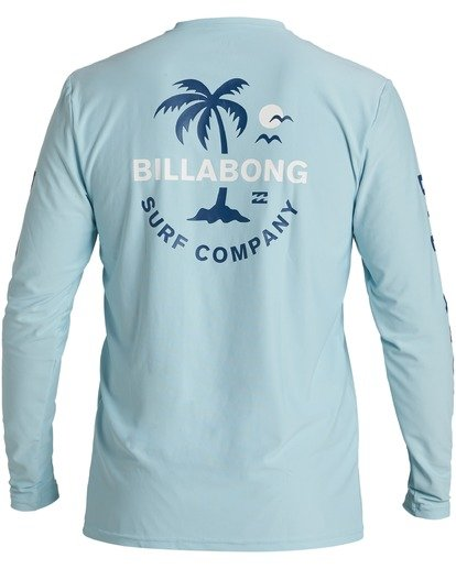 1 Vacation Loose Fit Long Sleeve Rashguard Brown MR593BVA Billabong