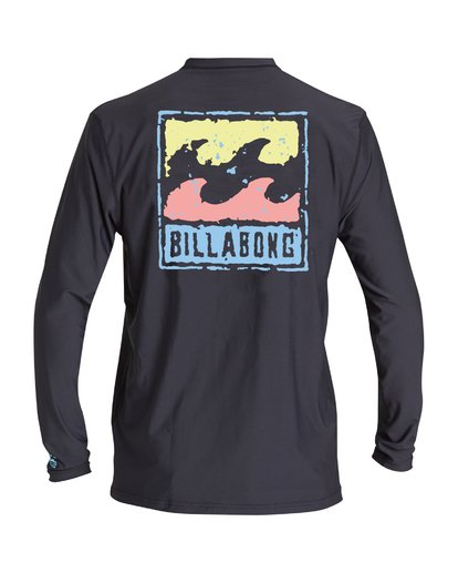 1 Psycho Wave Loose Fit Long Sleeve Rashguard Black MR59VBPS Billabong