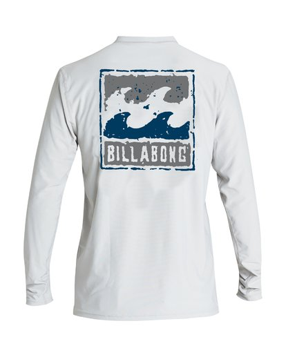 1 Psycho Wave Loose Fit Long Sleeve Rashguard Grey MR59VBPS Billabong