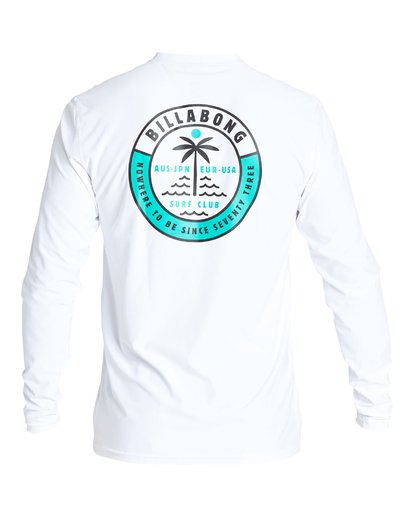 1 Sea Shore Loose Fit Long Sleeve Rashguard White MR59VBSE Billabong