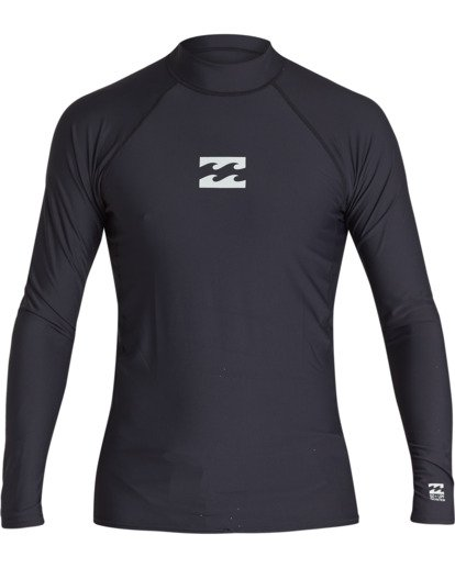 0 All Day Wave Performance Fit Long Sleeve Rashguard Black MR601BAL Billabong