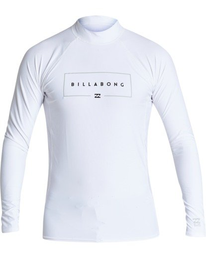 0 Union Performance Fit Long Sleeve Rashguard White MR601BUN Billabong