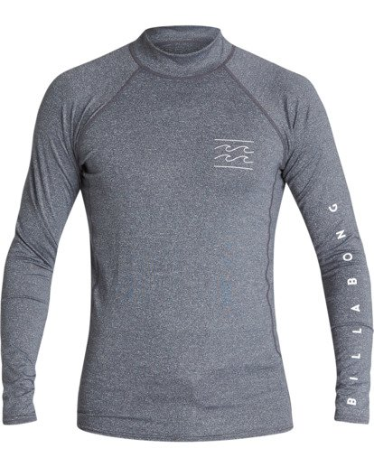 0 Unity Performance Fit Long Sleeve Rashguard Grey MR601BUY Billabong