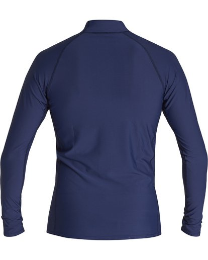 1 Unity Performance Fit Long Sleeve Rashguard Blue MR601BUY Billabong
