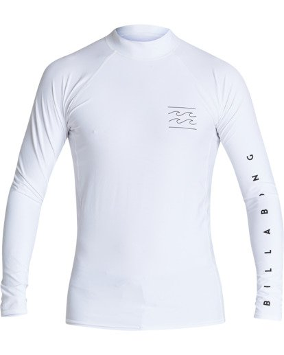1 Unity Performance Fit Long Sleeve Rashguard White MR601BUY Billabong