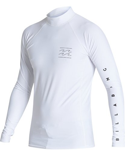 0 Unity Performance Fit Long Sleeve Rashguard White MR601BUY Billabong