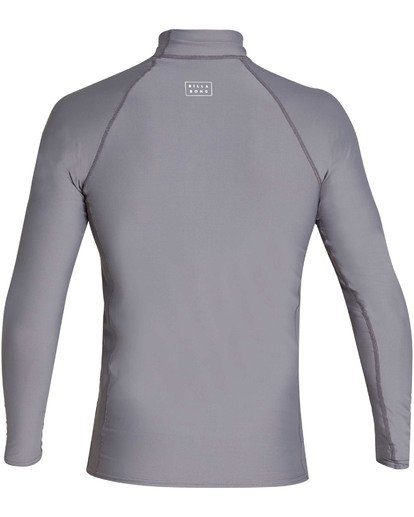 1 All Day Wave Performance Fit Long Sleeve Rashguard Grey MR60TBAL Billabong