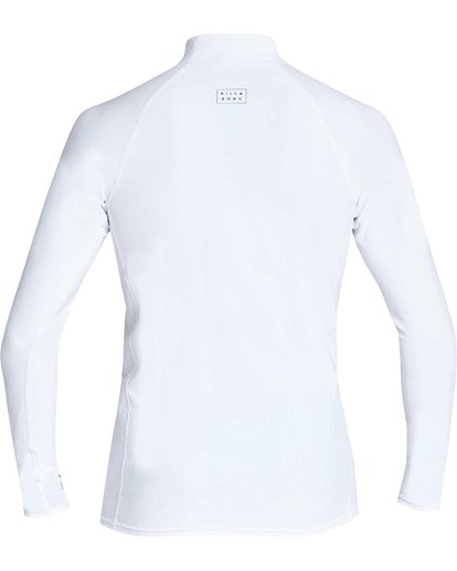 1 All Day Wave Performance Fit Long Sleeve Rashguard White MR60TBAL Billabong