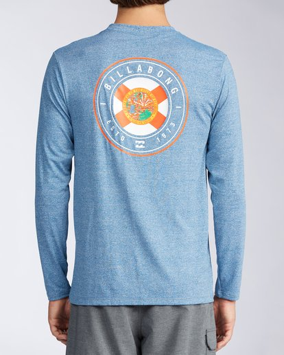 2 Florida Seal Loose Fit Long Sleeve Rashguard Blue MR60TBDR Billabong