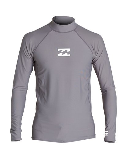 0 All Day Wave Performance Fit Long Sleeve Rashguard Grey MR60VBAL Billabong
