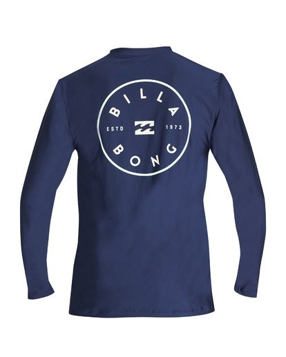 1 Rotor Loose Fit Long Sleeve Rashguard Blue MR61TBRO Billabong