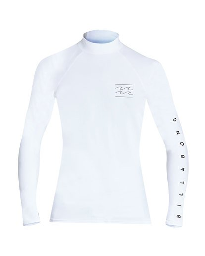 0 Unity Performance Fit Long Sleeve Rashguard White MR61TBUY Billabong